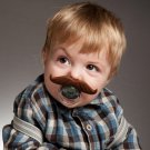 Mustache Pacifier Funny Fake Moustache Baby Dummy Party Favor Shower Gift USA