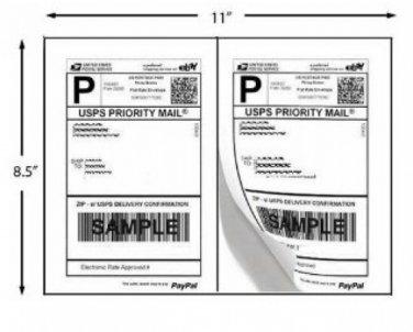 1000 Shipping Labels  Bulk PayPal Bulk Click-n-ship FedEx Self Adhesive Laser Inkjet Printer