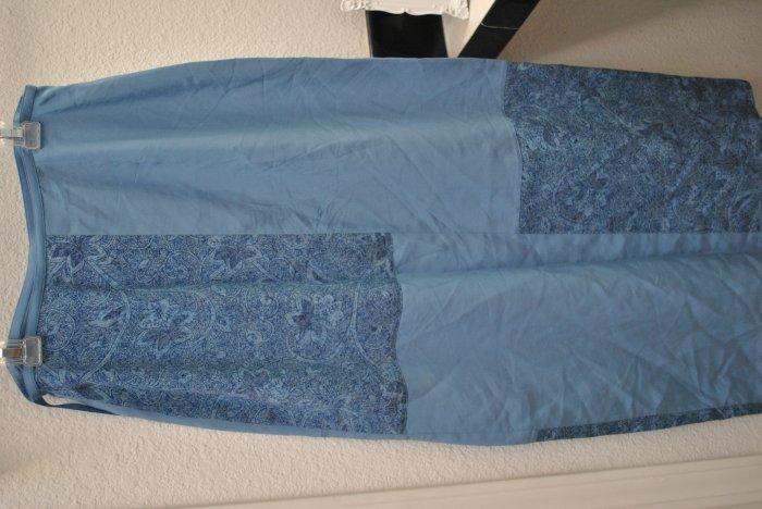 Amanda Smith Long Blue Silk Skirt - Sz S