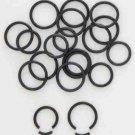 """Pair 14 Gauge Black Titanium Segment Hoop Earrings 7/16"""""""