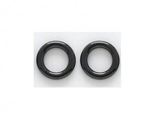 Pair 8 Gauge Black Anium Segment Hoop Earrings 1 2