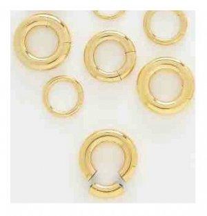 Pair 6 Gauge 14k Gold Plated Segment Hoop Earrings 1 2