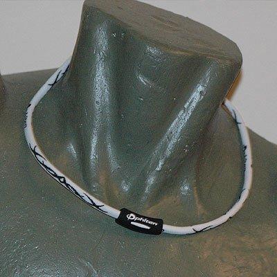 "Phiten Titanium X30 Tribal White/Black necklace 18"""""
