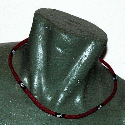 "Phiten Titanium X30 Checkered Red necklace 22"""""