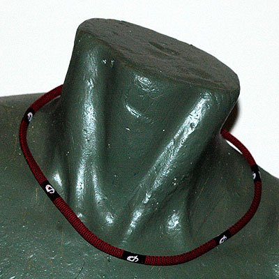 "Phiten Titanium X30 Checkered Red necklace 18"""