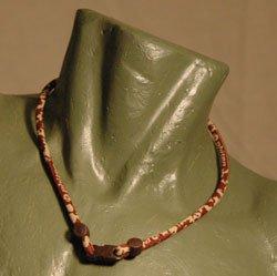 """Phiten Titanium Necklace Camo Brown 26"""""""