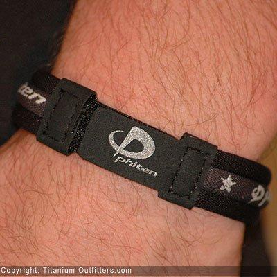 """Phiten Titanium Bracelet Black 7"""""""""""