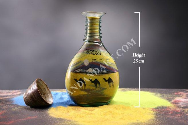 Sand Art Bottles -Large Wide  1