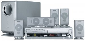 Panasonic SCHT820V 600 Watts 5 Disc DVD  VCR Home Theater System Combo