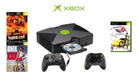 Xbox  Value Bundle  with 3 Games and 2 Controllers