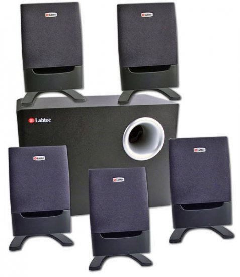 Labtec Arena 675 5.1 Home Theater Speakers System