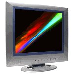 SVA TFT Flat Panel LCD Monitor with Speakers 17 Inch
