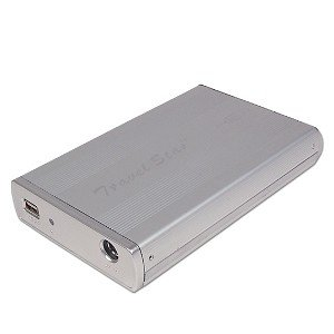 3.5-Inch USB 2.0 External Aluminum Case Enclosure (Silver)