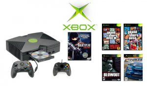 """Xbox """"Grand Theft Auto Bundle with  5 of the Hottest Games and 2 Controllers"""
