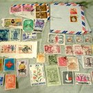 Asian Postage Stamp Lot Chinese Japanese Vietnamese Korean Etc