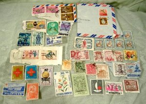 Asian Postage Stamp Lot Chinese Japanese Vietnamese Korean Etc