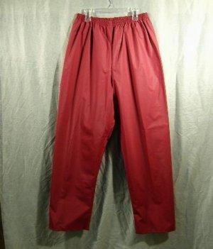 LL Bean Women's Rain Pants PVC Waterproof Size Medium Cranberry Mauve