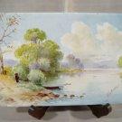 Harry G Aitken Landscape Painting on Robertson Tile Antique Porcelain