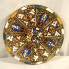 Islamic Pottery Plate Dish Enamel Paint Vintage Signed Moroccan Middle Eastern