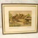 Vintage Austrian Watercolor Landscape Painting Holdrichsmuhle Inn Hinterbruhl
