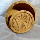 Antique Primitive Butter Mold Press Carved Wood Wheat Sheaf