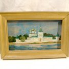 Russian Lacquer Kostroma River Painting Vintage Miniature Ipatiev Monastery