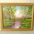 Impressionist Forest Sunset Landscape Painting Oil