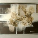Mid Century Modern Abstract Painting Textured Acrylic Signed Cardin