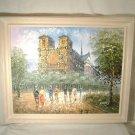Burnett Paris Streetscape Oil Painting Modern Impressionist Notre Dame