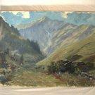 Mountain Landscape Oil Painting Purschling Bavaria Germany Hans Schilcher