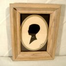 "Vintage Little Boy Silhouette Signed ""By Paul"""