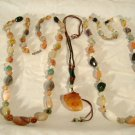 Carnelian Agate Stone Beads Necklace Pendant Vintage Lot of 3