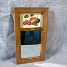 Vintage Velvet Theorem Painting Mirror Folk Art Fruit Signed Jane