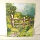 Impressionist Landscape Oil Painting Summer Meadow Split Rail Fence Signed Kepp