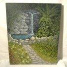 Vintage Garden Grotto Oil Painting Naive Folk Art Pennsylvania Merle Hinckley