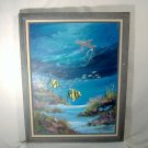 Underwater Tropical Reef Seascape Painting Signed E F P Jerome 1988