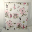 "Paris Scenes ""Tres Chic"" Stretched Screen Print Textile Fabric Art"