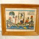 Egyptian Papyrus Painting Female Pharaoh Royalty Nile Boat Barge