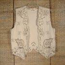 Lim's Vintage Raw Silk Vest Embroidered Sz L