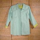 Caribbean Joe Aqua Jacket Coat Sz Petite Large All Weather
