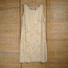 Liz Claiborne Sleeveless Tropical Dress Sz 12 Linen Rayon Blend
