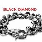 Mens devil Skull Stainless Steel Bracelet