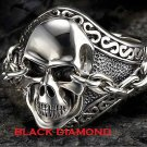 Uncaged Skull With Chained Eyes Ring