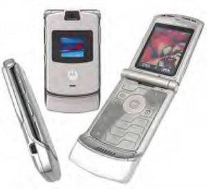 Silver unlocked v3 Razr cell phone