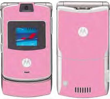 Light Pink V3 RAZR unlocked cell phone