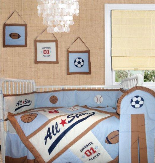 All star (6pcs) crib baby bedding set