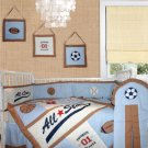 All star (6pcs) crib baby bedding set