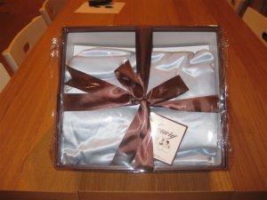 100% Organic Chartmuse Silk Baby Blanket Blue (Silk fill)