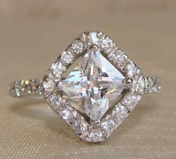 Princess Cut Clear CZ Sterling Silver Ring
