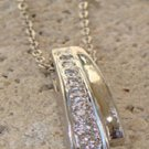 Clear CZ Pendant Sterling SIlver Necklace